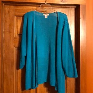 CJ Banks open front sweater
